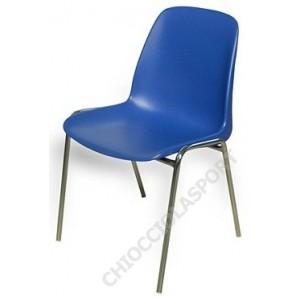 Sedia in acciaio con scocca plastica articoli sportivi for Sedie impilabili plastica